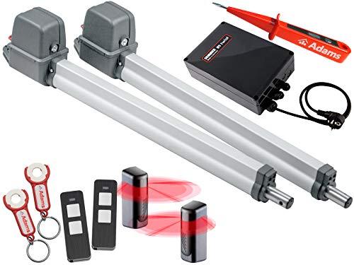 Sommer Twist 200EL Drehtorantrieb 2-flüglig + 2 Handsendern mit ADAMS Anhänger + Lichtschr. Set 4in1L + ADAMS Stromprüfer