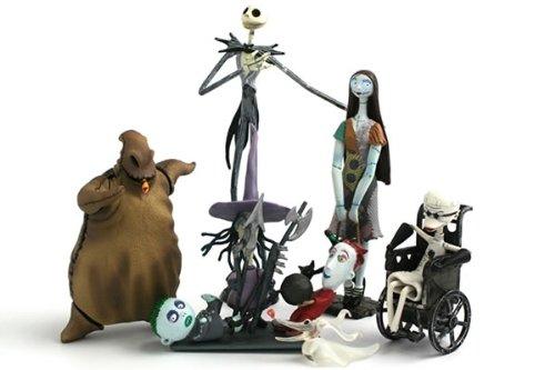 U.C.C. Distributing Exclusive Nightmare Before Christmas Jack Skellington 6 Pc. Figurine Playset - NMBC Figure Set