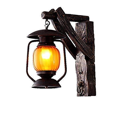 Yhtech nórdico Lámparas de pared, lámpara de cabecera apliques minimalistas, sala de estar dormitorio lámpara de cabecera del jardín Restaurante pared de madera Barra de luz ilumina el camino de Estud
