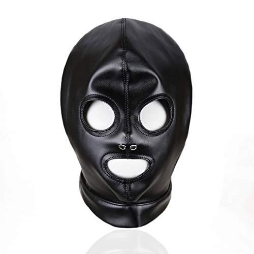 ZZDD FlExyh Männer und Frauen Rollenspiel Requisiten Atmungsaktives Leder Kopf Ärmel Hollow Face Cover Jeans Sunglasses Raincoat