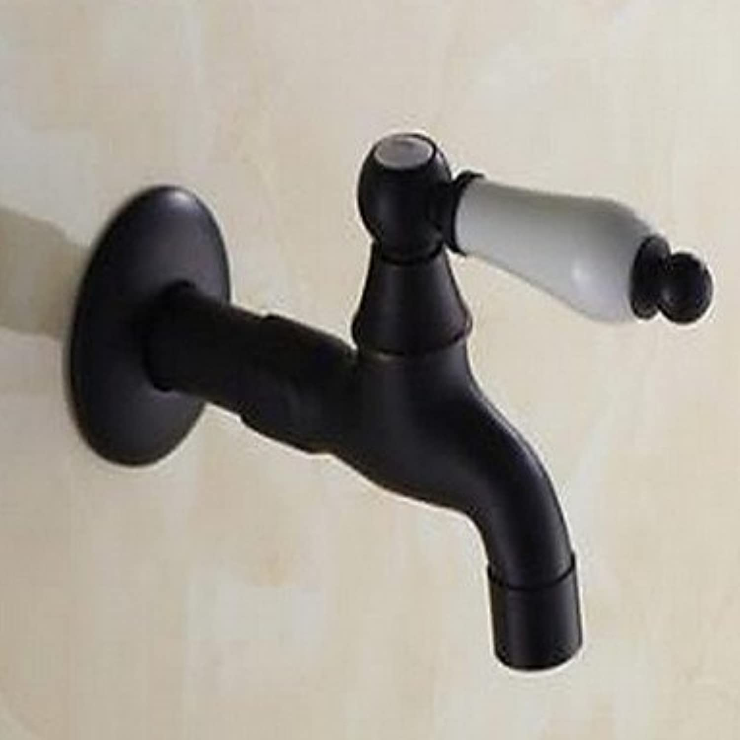 Art Deco Retro Vessel Brass Valve Single Handle One Hole Oil-Rubbed Bronze, Bathroom Sink Faucet