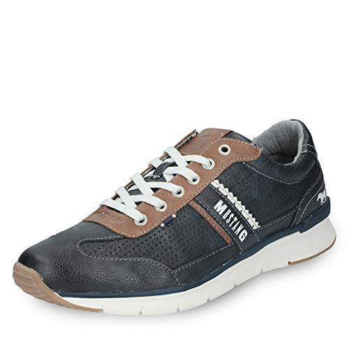 MUSTANG Shoes Halbschuhe in Übergrößen Blau 4137-301-820 große Herrenschuhe, Größe:47