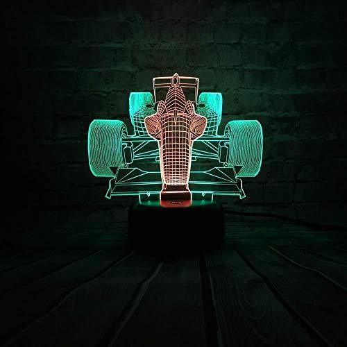 Led-nachtlampje, 3D-nachtlampje, tafellamp voor auto, racewagen, nachtlampje, ledlamp voor kinderen, kinderdecoratie, voor gezinnen, kerstcadeau, met USB-afstandsbediening