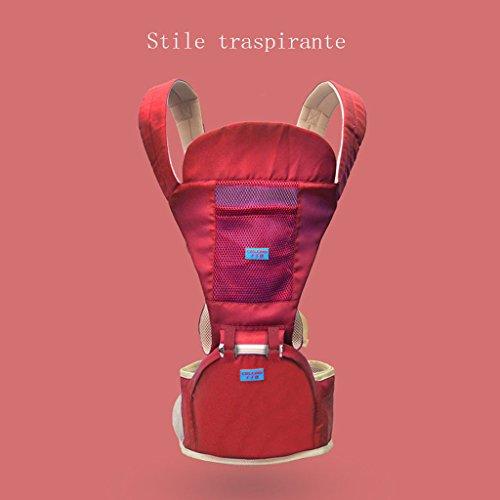 LLN Baby Carrier Ergonomics 4 In 1 Atmungsaktive Babytragegurte Baby Four Seasons Universalgurte Für Neugeborene Kleinkinder,E