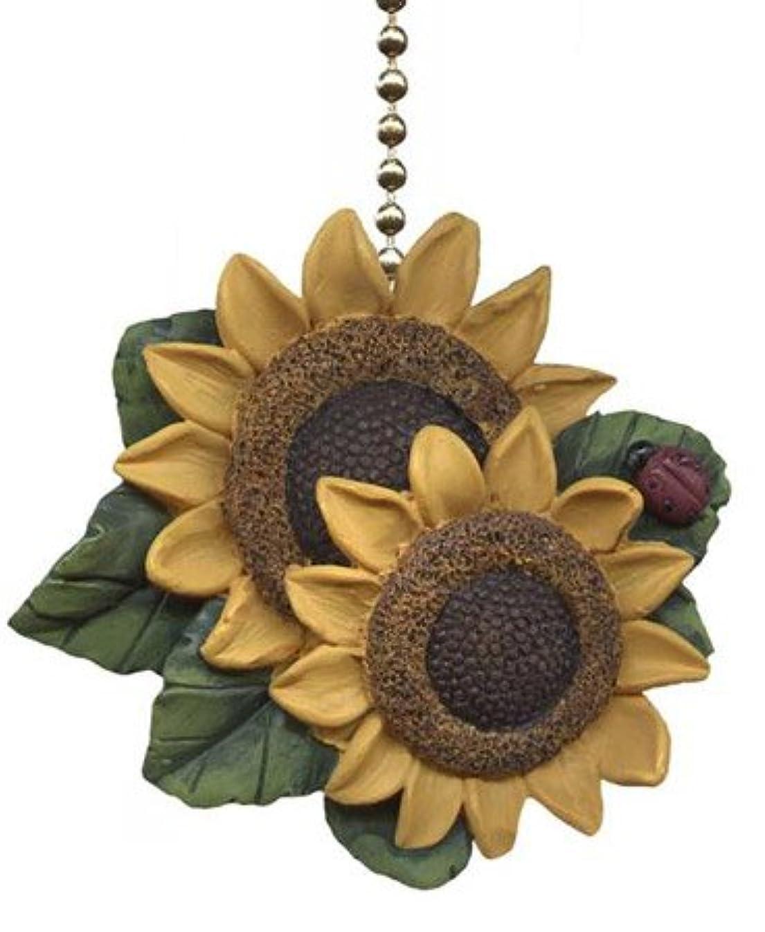 Clementine Designs Sunflower Ladybug Floral Kitchen Ceiling Fan or Light Pull