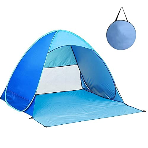 KALINCO Beach Tent, Pop Up Baby Beach Tent, Sun Shelters Tents, UPF50+ UV Beach Shade Instant Portable Cabana with Carry Bag