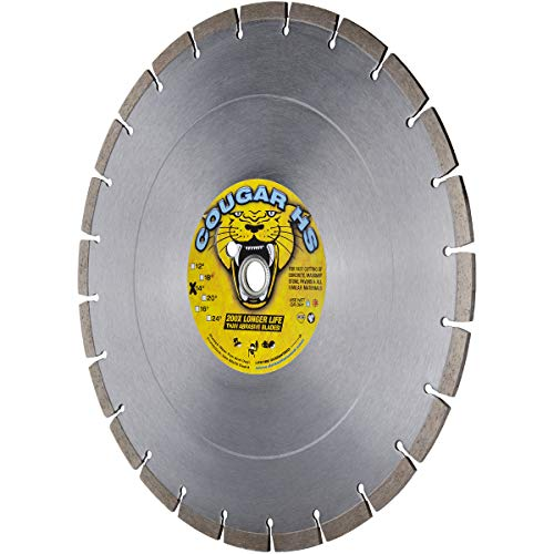 Cougar HS 14-inch (14') X .125 X 1'-20MM Wet/Dry Diamond Blade for Concrete, Masonry, Stone, Pavers and Similar Materials