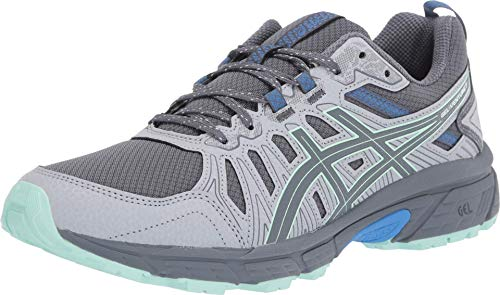 ASICS Women's Gel-Venture 7 Trail Running Shoes, 8M, Sheet Rock/ICE Mint