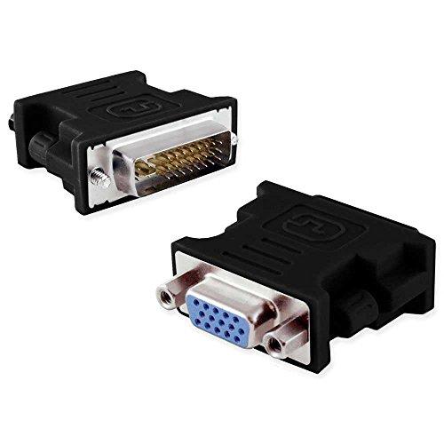 OcioDual Adaptador Convertidor de Señal DVI-I Macho 24+5 Pines (Dual-Link) a VGA...