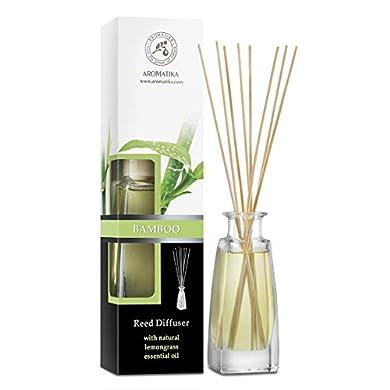 Foto di Diffusore Profumato per Ambiente Bamboo 100ml con 8 Bastoncini di Bambù - Fragranza Intensa e Duratura - Senza Alcool - Aromatizzatore d'Aria per Interni - Reed Diffuser Bamboo
