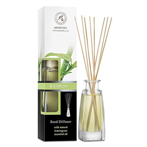 Raumduft Bamboo mit Lemongrass Öl 100ml - Intensiv und Langanhaltend Duft - ohne Alkohol - Bester Raumlufterfrischer für Aromatherapie - Zuhause - Büro - Boutique - SPA - Aromatherapie
