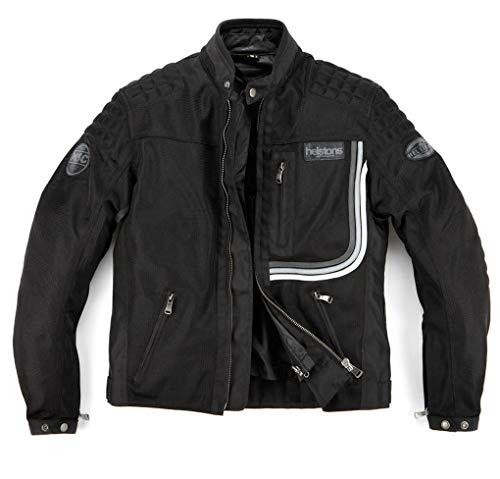 Helstons Sonny - Chaqueta para moto (tejido de malla), color negro, talla M
