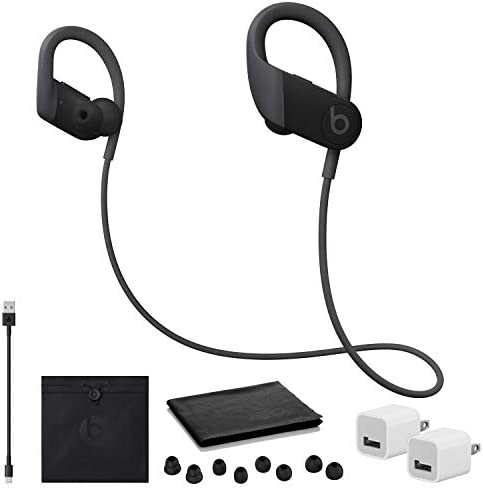 Beats by Dr Dre Powerbeats Headphones Black with USB Adapter Cubes product image