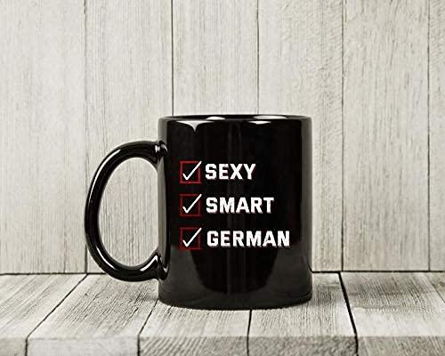 N\A Taza Alemana Inteligente y Sexy, Divertida Taza de café Alemana para papá y mamá alemanes, Linda Idea de Regalo de la Taza del Orgullo de Alemania para Hombres y Mujeres