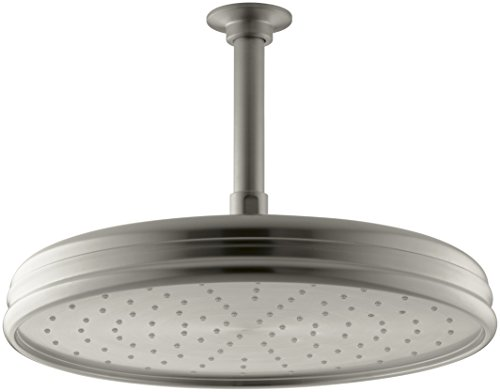 Kohler K-45202-BN 2.0 GPM Traditional Round 8-Inch Rainhead with Katalyst Air-Induction Spray, Vibrant Brushed Nickel