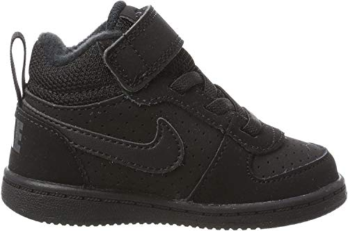 Nike Unisex-Kinder Court Borough Mid (TD) Basketballschuhe, Schwarz (Black/Black 001), 27 EU