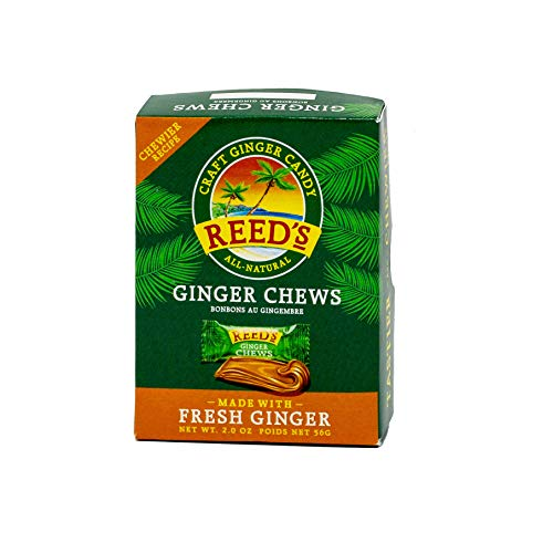 Reed's, Ginger Chews, Delicious All Natural Sweet and Spicy Chewy Ginger Candy (2 OZ Box)