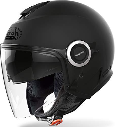 AIROH Helios HE11 Casco Moto, Nero (Black Matt), XXL