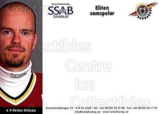 (CI) Petter Nilsson Hockey Card 2003-04 Swedish Lulea Hockey Postcards 16 Petter Nilsson