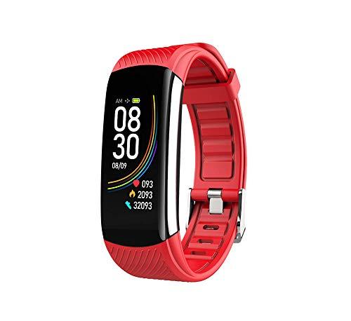 Smartwatch Fitness Tracker reloj, temperatura pulsera electrocardos ograma pulsera presión sangre oxígeno en sangre frecuencia cardíaca podómetro monitoreo impermeable