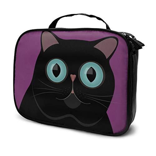 Sacs à cosmétiques pour les femmes, étui à crayons Black Cat aux yeux bleus