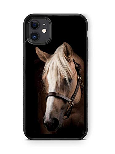 XUNBOTINGS for iPhone 11 Case - Horse Beautiful Horse Animal Case -Soft TPU+Luxury Tempered Mirror Protective iPhone 11 Case