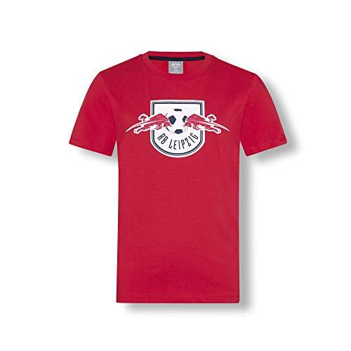 RB Leipzig Essential T-Shirt, Rot Youth Größe 152 T-Shirt, RasenBallsport Leipzig Sponsored by Red Bull Original Bekleidung & Merchandise