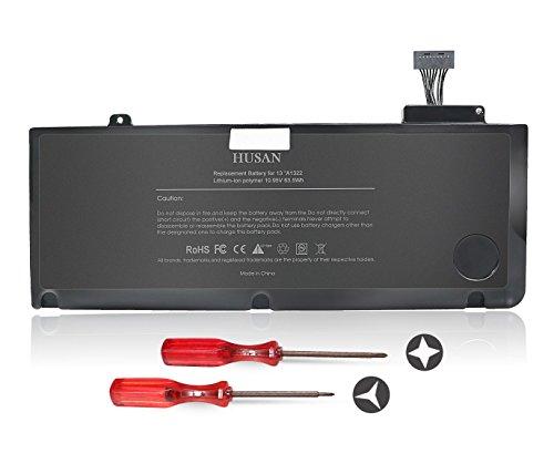 HUSAN A1322Batería de Ordenador portátilpara MacBook Pro 13 '' A1322 A1278 (2009 2010 2011 2012 Version) 661-5229 661-5557 020-6547-A MB990LL / A (10.95V 6000mAh)