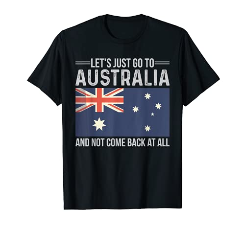 Australische Flagge Fahne Australien Urlaub Spruch T-Shirt