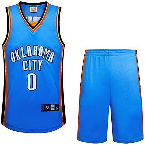 Kit De Traje De Baloncesto para Hombre 2 Piezas Chaleco Vintage Baloncesto Shorts Jersey Baloncesto Uniforme De Baloncesto Camisa De Manga Corta, Azul, L, Blue - XL