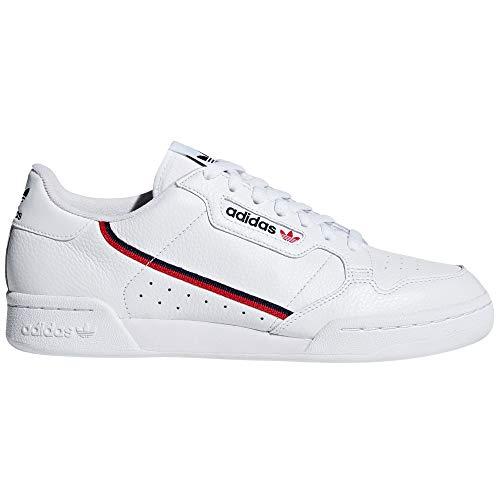adidas Continental 80 Blancas, Zapatillas Deportivas para Mujer. Sneaker. Nostalgia Vintage (37 EU, Blanc Nuage - Rouge Marine pr)
