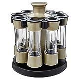 SMEJS 8 unids/Set condimento Multiusos Tarrar Botella de la Botella de condimento de plástico Tanque de condimento de la casa for Sal/Molino/Salsa Herramienta de Cocina de Especias