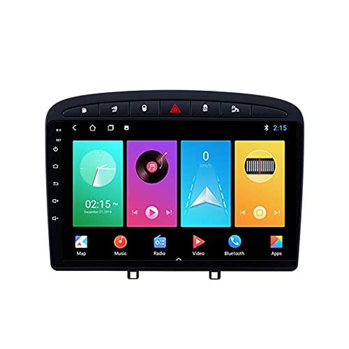 Android De Radio Coche Bluetooth Car Reproductor Estéreo Micrófono Incorporado para Peugeot 408 2010-2016 Autoradio Apoyo Carplay DSP Mirror Link Control del Volante,M150s