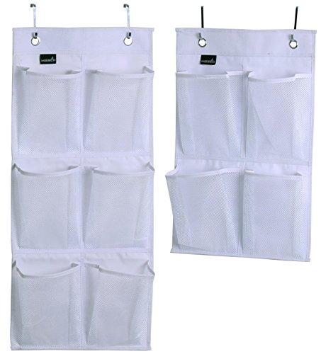 Misslo Over Door Organizer For Closet Pantry Narrow Door Pack 2 White