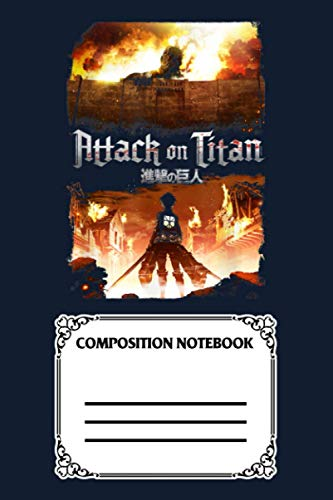 Attack On Titan Keyart PL92H Notebook: 120 Wide Lined Pages - 6' x 9' - College Ruled Journal Book, Planner, Diary for Women, Men, Teens, and Children