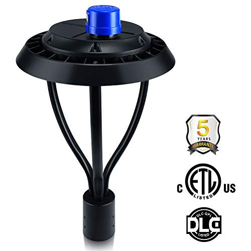 Led Post Top Pole Light 150W with Photocell LED Circular Area Light (700W Equivalent) 21,000Lm 5000K Daylight Outdoor Lamp Top Pathway Pole Light Fixture for Commercial School Street Light Yard Light