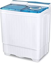 Portable Mini Washing Machine, 24Lbs Small Compact Washer Dryer Combo, Apartment 2 in 1 Twin Tub Washers with Drain Pump and Time Control for Laundry, Dorms, College, RV, Camping (Blue)