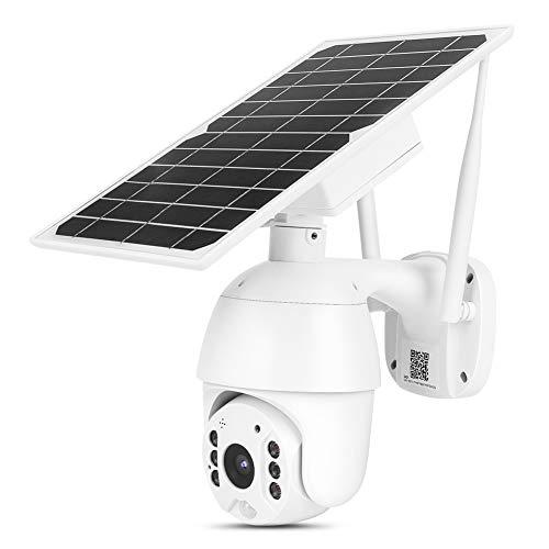 Cámara Solar 4G PTZ, 1080P HD Cámara de Seguridad de Visión Nocturna IP66 Impermeable Para Exteriores, Monitoreo Remoto Compatible, Detección de Movimiento, Intercomunicador de Voz(EU)