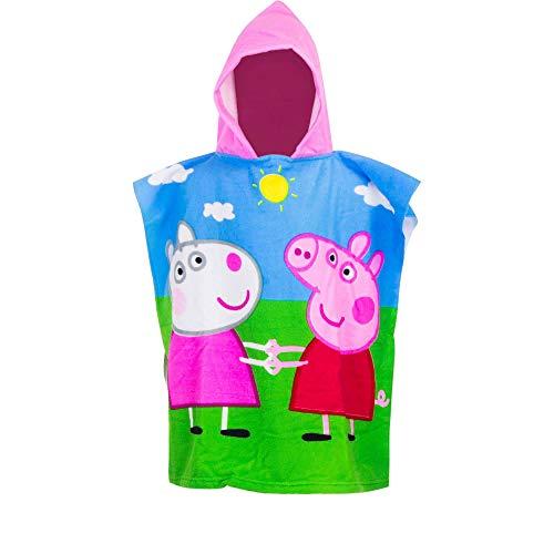 Peppa Pig Kinder Badeponcho Badcape Strandtuch mit Kapuze