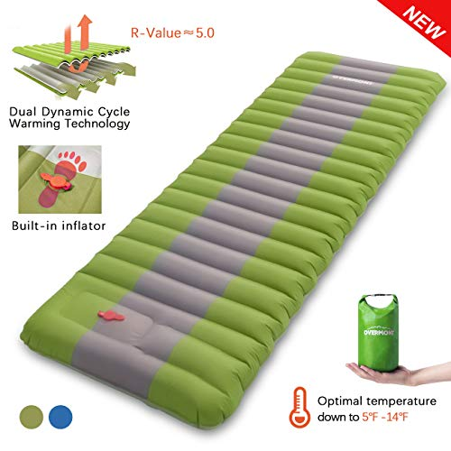 Overmont Sleeping Pad Inflatable Extra Thickness Camping Tent Mattress Pad Waterproof for Sleeping...