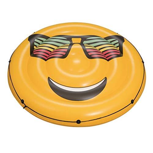 Chenguojian Flotador de Piscina Emoji, Flotador de Piscina for Adultos y niños, Flotador de balsa de Piscina Estilo Tumbona for Fiestas en la Piscina, Accesorios de Piscina