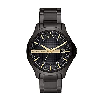 Armani Exchange Men s Hampton Stainless Steel Watch Color  Black/Gold  Model  AX2413