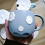 Tazza personalizzata tazza colazione grande tazza termica tazza caffe -Tazza in ceramica fiore verde Regali per Festa Della Mamma SanValentino Compleanno Natale Anniversario