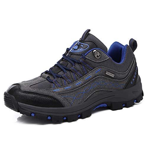 DimaiGlobal Zapatillas de Trekking para Hombres Zapatillas de Senderismo Botas de Montaña Impermeable Antideslizantes AL Aire Libre Deportes Escalada