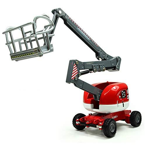 LZ Druckguss Fahrzeug Spielzeug, 1: 87 Legierung Druckguss Auto Luft Hebebühne LKW Baufahrzeug Modell Toy Rot
