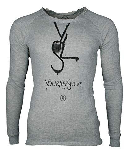 Boom Bap Sweatshirt YLS Grey -XL