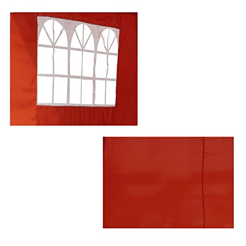 Angel Living 2 Seiten Seitenwänden for Faltbare 3x3m Pop-Up Pavillon (Terrakotta Seitenwänden)