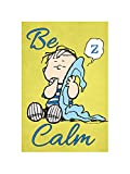 """Flagology.com, PEANUTS®, PEANUTS® Be Calm Linus Blanket – House Flag 28"""" x 40"""", Officially Licensed PEANUTS®, Inspirational"""