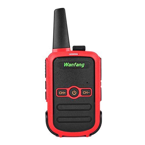 DENGHENG Walkie-Talkie Professional Mini Color Ultra-Thin Ultra-Small USB Direct Charging Interior Negro cargador de dispositivo móvil rosso