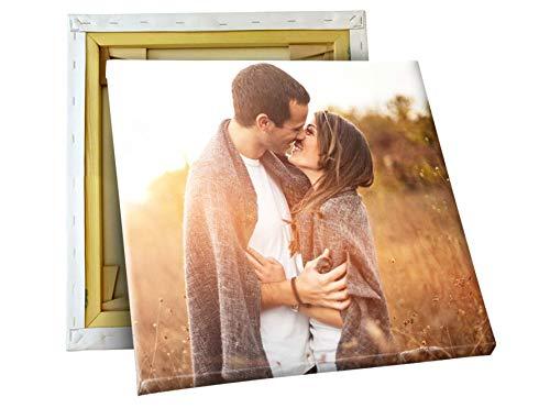 fotokasten Fotoleinwand 20x20 cm - Ihr eigenes Bild auf Leinwand - Foto auf Leinwand - quadratisches Format - auf Holzkeilrahmen gespannt